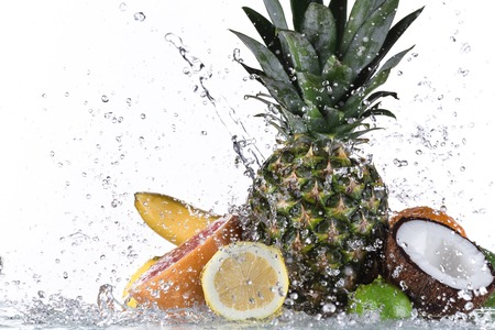 Fresh fruit with water splash photo