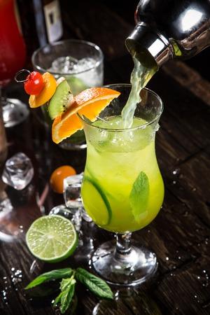 cocktail shakers: fresh poured margarita