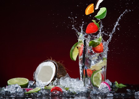 fruit splash drink photo