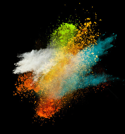 colored powder: Colored powder in freeze motion