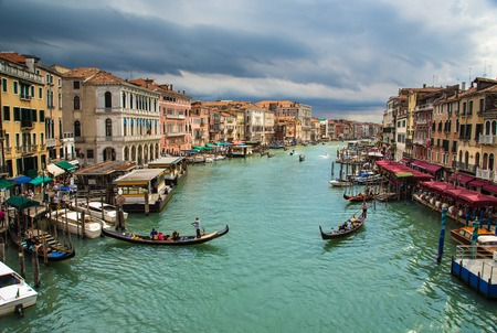 rialto bridge: Grand Canal in Venice, Italy, Europe
