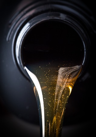 lubrication: Motor oil pouring
