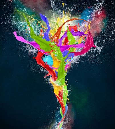 Peinture de couleur, des formes abstraites, close-up Banque d'images - 30386042