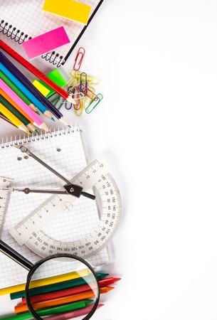 fournitures scolaires: Fournitures scolaires, photo gros plan