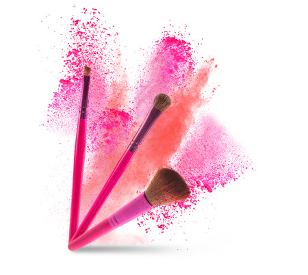 professional make-up brush Stock Photo