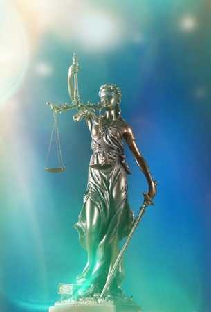 justness: Themis in spotlight - concept of justice.