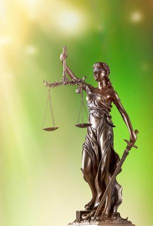 judicature: Themis in spotlight - concept of justice.