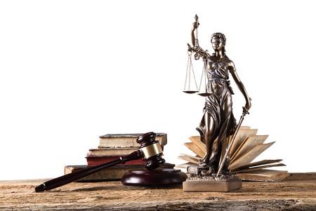 Themis sotto i riflettori - concetto di giustizia. Archivio Fotografico - 32239732