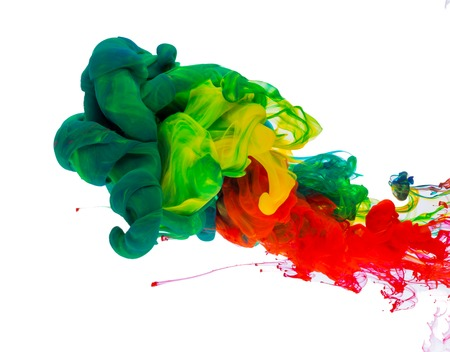 Colored ink in water photo