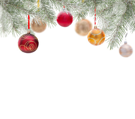 Abstract Christmas background isolated on white. photo