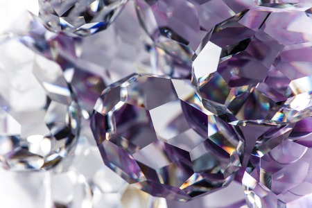 priceless: Close-up of cutted glass, macro shot. Stock Photo