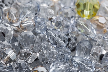 Close-up of cutted glass, macro shot. photo