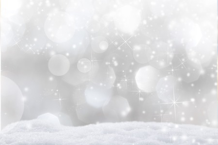 snow drop: Abstract Christmas background, close-up. Stock Photo