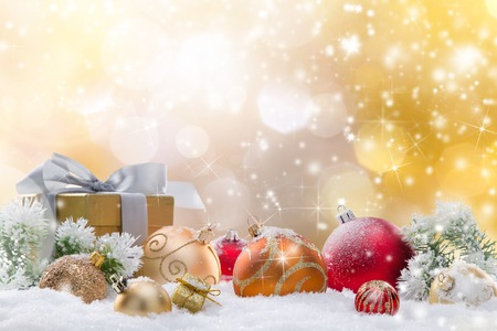 Abstract Christmas background, close-up. Imagens