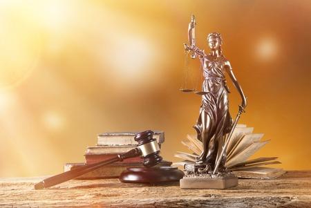 Themis in spotlight - concept of justice.