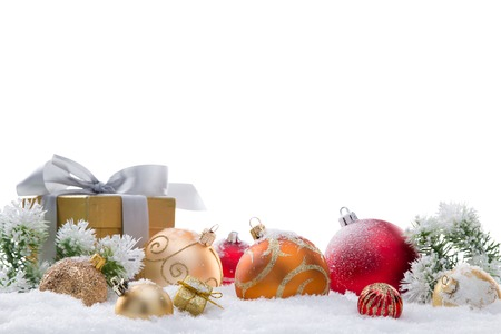 抽象的なクリスマス背景、クローズ アップ。
