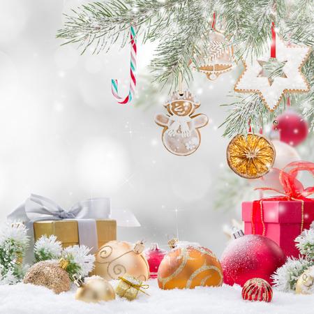 Abstraktní vánoční pozadí, close-up. Reklamní fotografie
