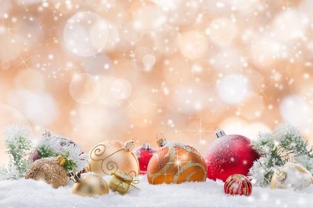 クリスマスの背景、クローズ アップを抽象化します。 写真素材