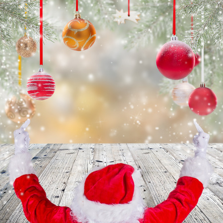 x mas: Photo of Santa Claus with eyeglasses. Stock Photo