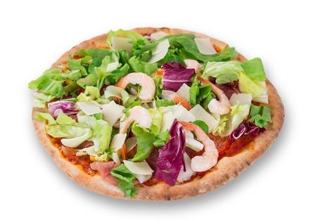 primavera: Delicious italian primavera pizza on white background.
