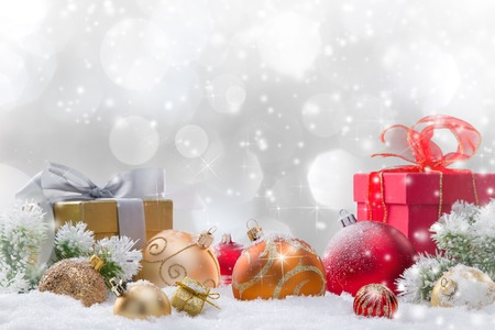 Abstract Christmas background, close-up. Stock Photo