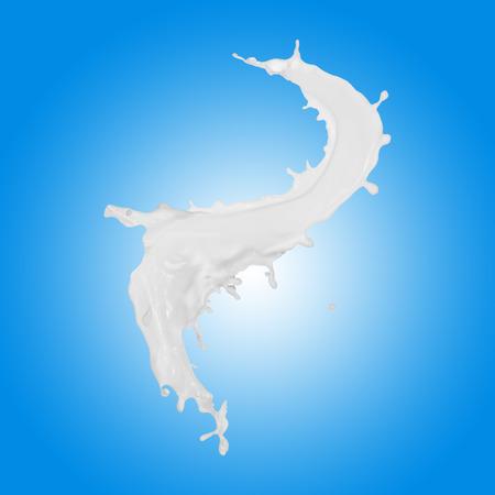 Milk splash on blue background Stock Photo - 33938752