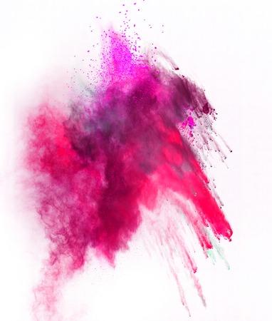 barvitý: Zahájila barvitý prášek, izolovaných na bílém pozadí