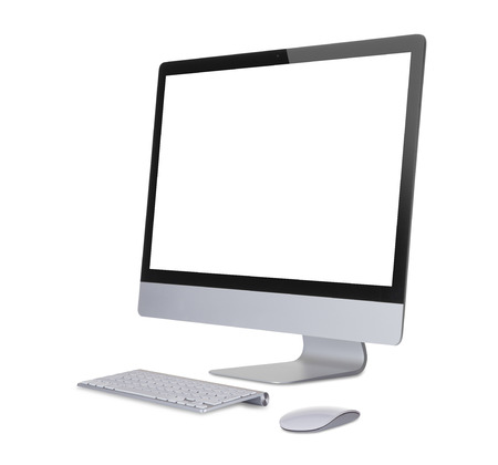 liquid crystal display: Computer display isolated on white.