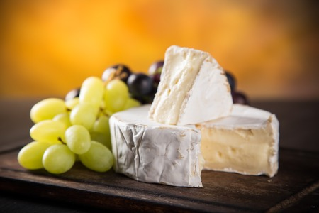 stilllife: Camembert cheese, close-up, still-life. Stock Photo