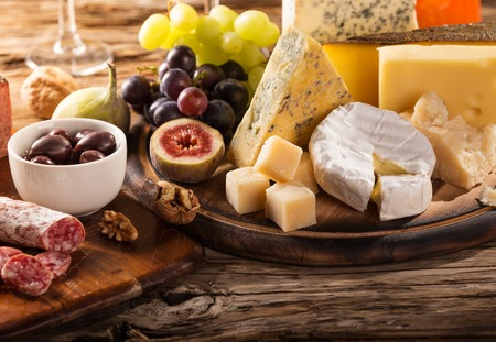 stilllife: Various types of cheese, still-life.
