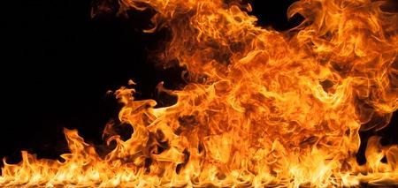 wild fire: Beautiful stylish fire flames, close-up. Stock Photo
