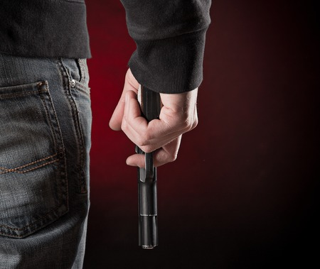 murderer: Murderer with handgun