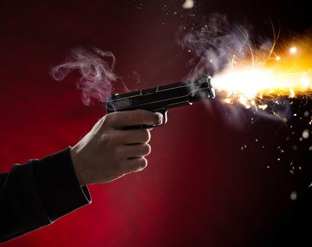 gun man: Murdered with handgun