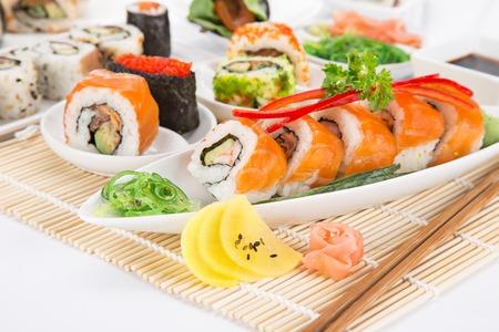 sushi restaurant: Sushi set close-up