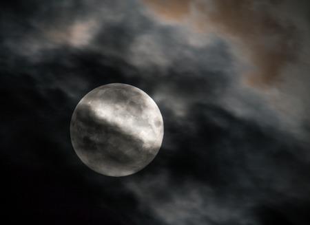 nightime: Closeup of full moon during night