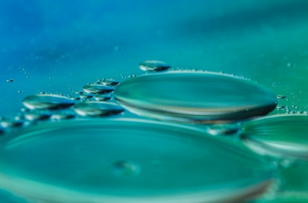 surface closeup: Oil on water surface, close-up.