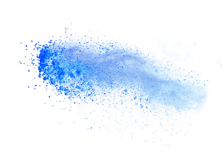 Poudre coloré lancé, isolé sur fond blanc Banque d'images - 40829216