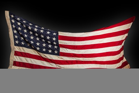 Grunge American flag, close-up. photo