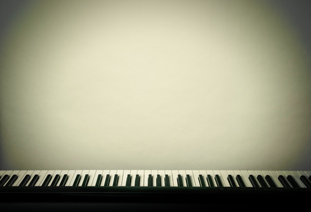 klavier: close-up von Klavier-Tastaturen, close-up.