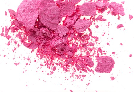 burst background: Colored powder isolated on white background Stock Photo