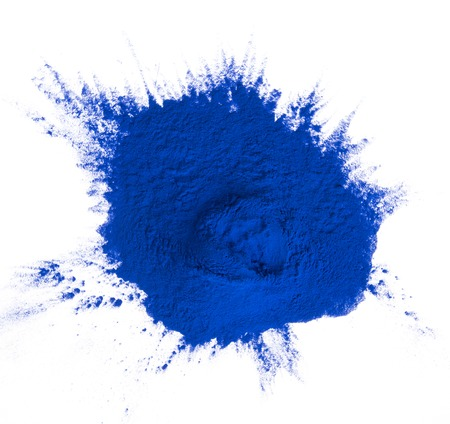 Colored powder isolated on white background Imagens