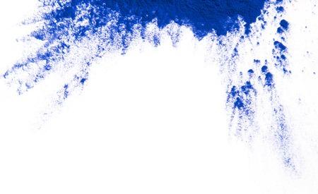toxic: Colored powder isolated on white background Stock Photo
