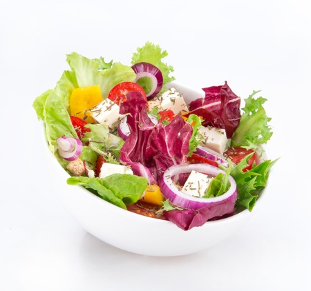 fresh vegetable salad close-up, healthy style.