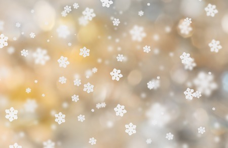 holiday celebration: Abstract christmas background with falling snow flakes. Stock Photo