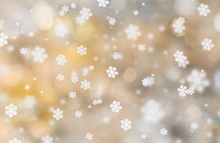 tormenta: Fondo abstracto de la Navidad con la caída de copos de nieve.