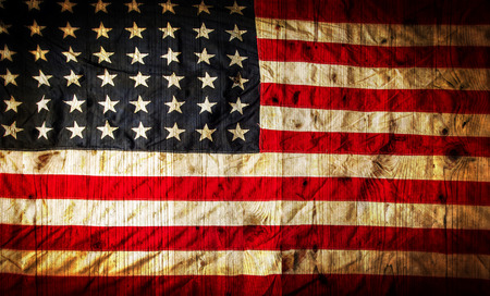 old flag: Closeup of grunge American flag