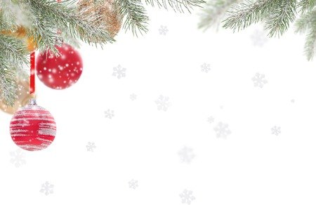 snow background: Abstract Christmas background with falling snow flakes Stock Photo