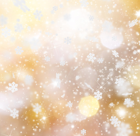 flakes: Abstract Christmas background with falling snow flakes Stock Photo