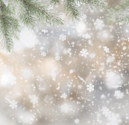 Abstract Weihnachten Hintergrund mit fallenden Schneeflocken