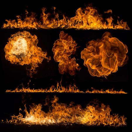 fogatas: Colección de las llamas de fuego